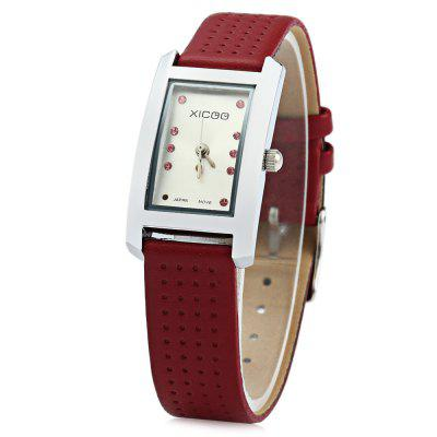 XICOO 450 Leather Band Diamond Women Quartz Watch