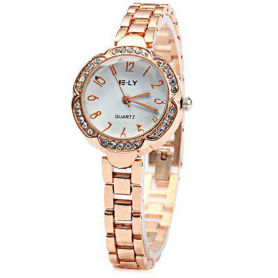 IE-LY Flower Dial Ladies Diamond Quartz Watch