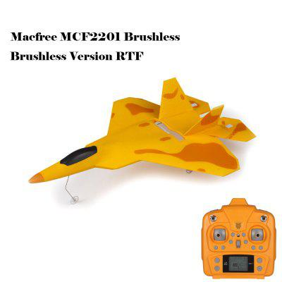 Macfree F - 22 F22 MCF2201 Brushless 2.4GHz 6 Channel 6 Axis Gyro 222mm Wingspan Fixed-wing Aircraft RTF Version