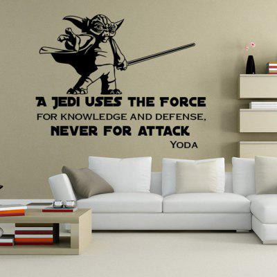 W-23 Plantillas de pared estilo YODA