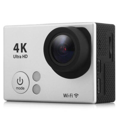 H2 Ultra HD 4K WiFi Action CameraAction Cameras<br>H2 Ultra HD 4K WiFi Action Camera<br><br>Battery Type: Removable<br>Camera Pixel: 12.0 megapixel<br>Capacity: 1050mAh<br>Charge way: USB charge by PC<br>Chipset: Sunplus SPCA6350<br>Chipset Name: Sunplus<br>Class Rating Requirements: Class 10 or Above<br>Decode Format: H.264<br>Delay Shutdown: Yes<br>Exposure Compensation: +0.3,+0.7,+1,+1.3,+1.7,+2,-0.3,-0.7,-1,-1.3,-1.7,-2,0<br>Features: Wireless<br>Frequency: 50Hz,60Hz,Auto<br>Function: Loop-cycle Recording<br>HDMI Output: Yes<br>Image Format: JPEG<br>Interface Type: TF Card Slot, Micro USB, Micro HDMI<br>ISO: Auto<br>Language: Dutch,English,French,German,Italian,Japanese,Korean,Polski,Portuguese,Russian,Spanish,Traditional Chinese,Turkish<br>Loop-cycle Recording: Yes<br>Max External Card Supported: TF 32G (not included)<br>Model: H2<br>Package Contents: 1 x H2 4K WiFi Action Camera, 1 x Waterproof Case, 1 x Flat Mount Base, 1 x Curved Base, 1 x Backpack Clip, 1 x Tripod Mount Adapter, 1 x 1/4 inch Mount Adapter, 1 x USB Cable (About 0.5m Length), 1 x<br>Package size (L x W x H): 28.00 x 17.00 x 7.00 cm / 11.02 x 6.69 x 2.76 inches<br>Package weight: 0.5500 kg<br>Product size (L x W x H): 5.90 x 2.90 x 4.10 cm / 2.32 x 1.14 x 1.61 inches<br>Product weight: 0.0610 kg<br>Scene: Auto<br>Screen resolution: 320x240<br>Screen size: 2.0inch<br>Screen type: TFT<br>Time Stamp: Yes<br>Type: Sports Camera<br>Video format: MOV<br>Video Output: HDMI<br>Video Resolution: 1080P (1920 x 1080),2.7K (2704 x 1524),4K (4096 x 2160)<br>Waterproof: Yes<br>Waterproof Rating: 30m underwater with waterproof case<br>White Balance Mode: Auto<br>Wide Angle: 170 degree wide angle<br>WIFI: Yes<br>WiFi Distance: 10m<br>WiFi Function: Image Transmission,Remote Control,Settings,Sync and Sharing Albums<br>Working Time: Up to 90 minutes at 1080P 30fps, 50 minutes at 4K 25fps