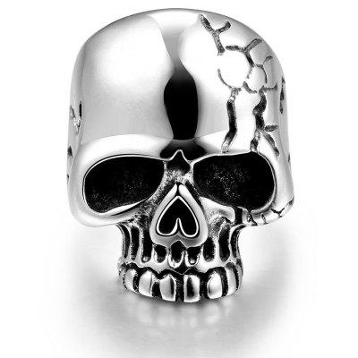 Buy SILVER 11 R184-11 Unique Star Celebrity Men Styles Skull Ring for $6.04 in GearBest store