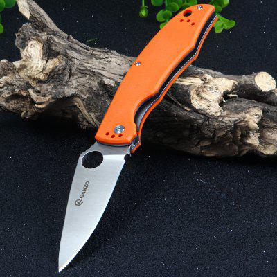 Buy Ganzo G732-OR Liner Lock Pocket Knife with G10 Handle ORANGE for $17.73 in GearBest store