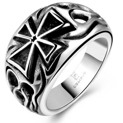 Buy SILVER 9 Cross Design Stainless Steel Men Ring for $5.71 in GearBest store