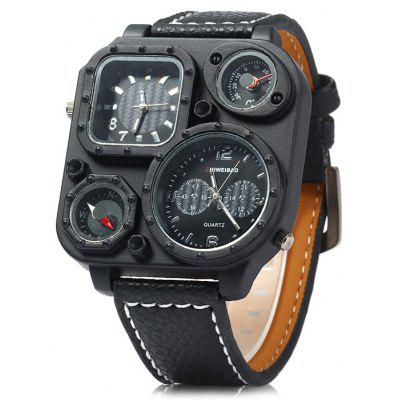 Buy BLACK Shiweibao J1169 Compass Dual Movt Male Quartz Watch for $13.85 in GearBest store