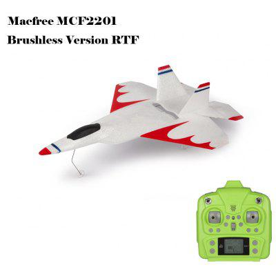 Macfree F - 22 F22 MCF2201 Sans Brosses  2.4GHz 6 Canaux 6 Axes Gyro 222mm Avion Envergure Voilerie Fixe Version RTF