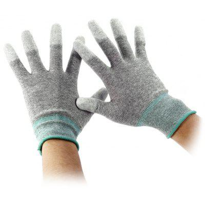 Antistatic PU Palm Coating Carbon Fiber Gloves - 2 PCS