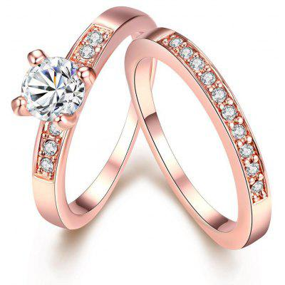 Buy ROSE GOLD 6 R020-A Nickle Free Antiallergic New Fashion Jewelry Gold Plated Ring for $4.23 in GearBest store