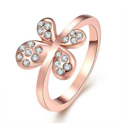 Buy ROSE GOLD 8 R032 Nickle Free Antiallergic New Fashion Jewelry Gold Plated Ring for $3.43 in GearBest store