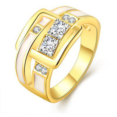 R774-A-8 Nickle Free Antiallergic New Fashion Jewelry 18K Gold Plated Ring