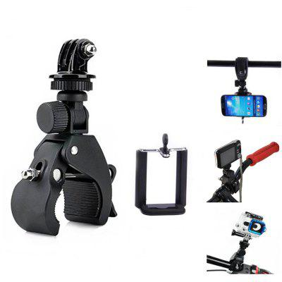 3-in-1 Bike Tripod Mount Sports Camera Holder with Connector