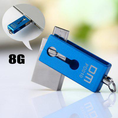 DM PD010 8G USB 2.0 to Micro USB Flash Drive