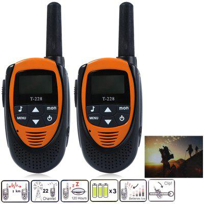 T-228 2pcs 22 Canali Wireless Walkie Talkie