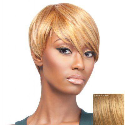 Gorgeous Assorted Color Straight Side Bang Spiffy Short Capless Human Hair Wig For Women