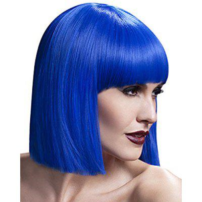 Elegant Short Silky Straight Bob Style Synthetic Full Bang Assorted Color Cosplay Wig For Women