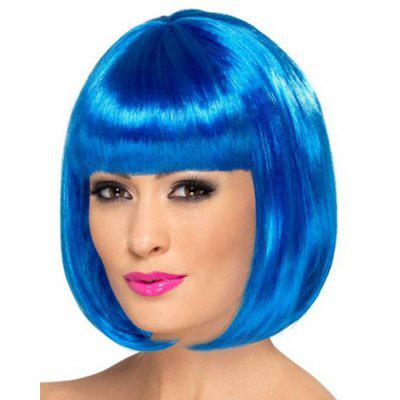 Assorted Color Bob Style Short Synthetic Fashion Straight Universal Cosplay Wig For Women