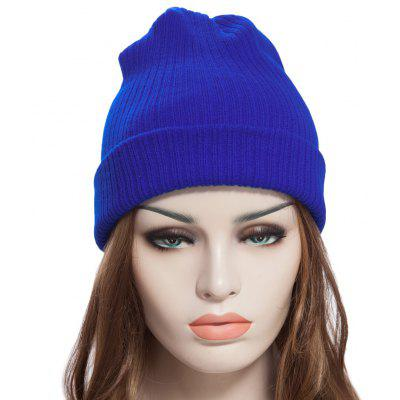 Stylish Pure Color Warm Soft Skullies Beanie Knit Cap