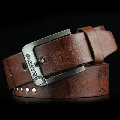 Hot Sale Square Shape Pin Buckle Wide Belt For Men