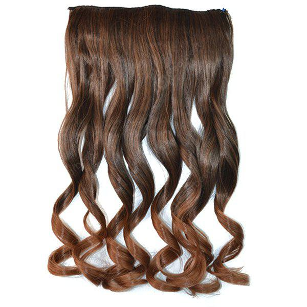 Fashion Fluffy Curly Stunning Long Brown Ombre Clip In Synthetic