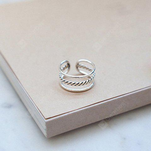 Characteristic Three-Layered Hollow Out Cuff Ring For Women