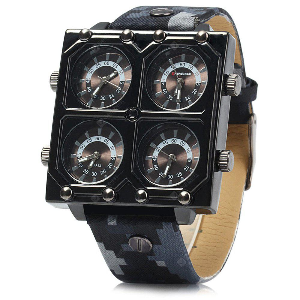 Shiweibao K2601 Four Movt Men Quartz Montre