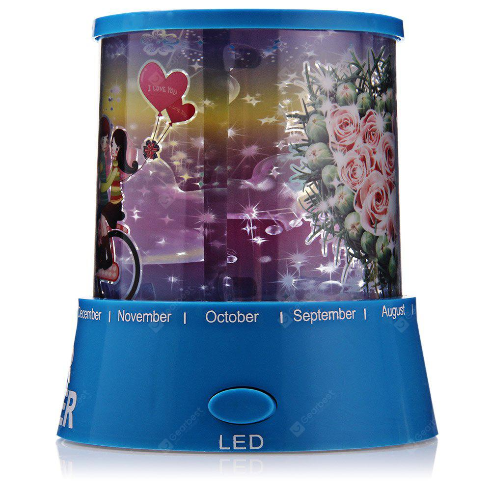 Sky Star Master LED Night Light Projector Lamp ROSE PATTERN