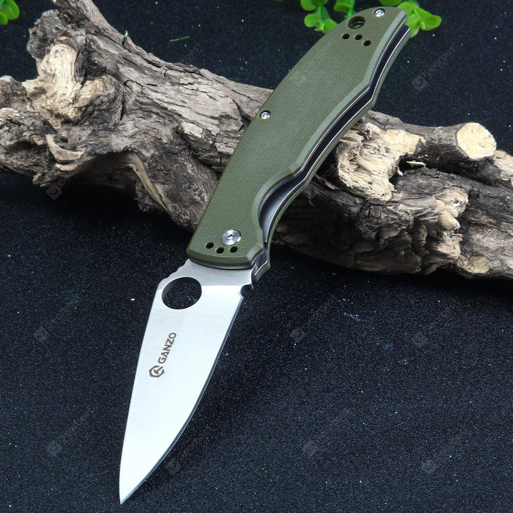 Ganzo G732-GR Liner Lock Pocket Knife with G10 Handle ARMY GREEN