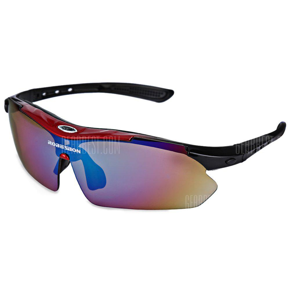 RED AND BLACK ROBESBON 0089 Men Cycling Sunglass