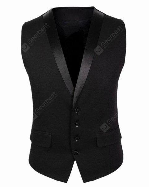 Single Breasted Sleeveless Formal Waistcoat