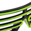 3-Mode Sound Control LED Glasses - BLACK AND GREEN