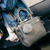 Graceful Weaving and Pompon Design Women's Tote Bag - GRAY