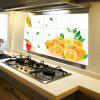 cheap Orange Pattern Anti Oil Kitchen Wall Stickers