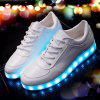 Unisex LED Shoes USB Charging - WHITE
