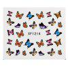 Watermark Butterflies Design Nail Sticker Manicure Decor Tools - XF121