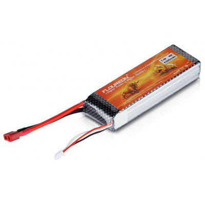 FLOUREON 40C 7.4V 6200mAh 2S Lipo Battery Pack