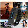 OLED Smart Healthy Bracelet Bluetooth V4.0 Wristband with Pedometer / Sleep Monitoring / Tracking Caloria Compatible with Android IOS - BLACK