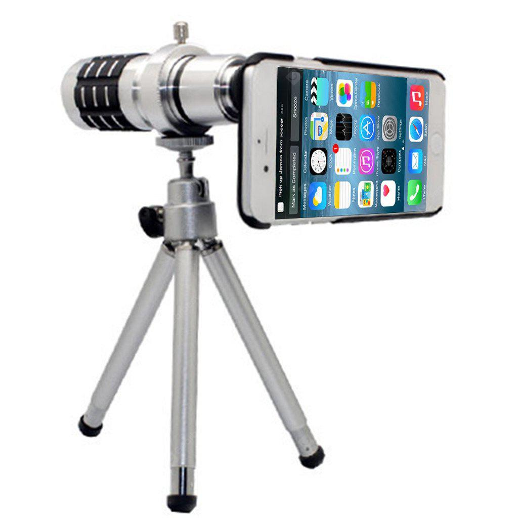 "12x Aluminum Portable Optical Zoom Manual Focus Telescope Camera Lens Kit with Mini Tripod & Case Kit for iPhone 6 4.7"", Consumer Electronics, Camera & Photo, Photography Accessories, Lens"