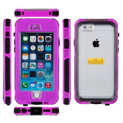Newest Full Buttons Anti-Dirt Snow Proof Waterproof Touched Fingerprint Recognition Case  for iPhone 6 / 4.7 Inch Purple