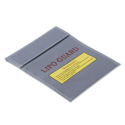 Lipo-Battery Increase Explosion-Proof Bag Fireproof Lipo Battery Guard Charge Bag 18X23cm Silver
