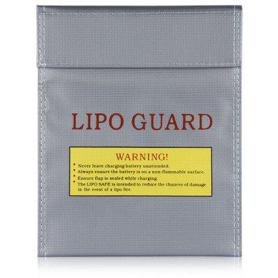 Gearbest Lipo-Battery Increase Explosion-Proof Bag Fireproof Lipo Battery Guard Charge Bag 18X23cm Silver