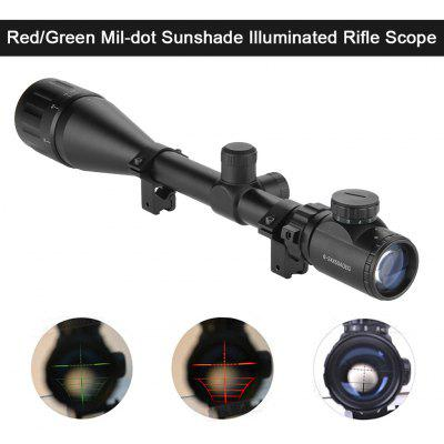 Excelvan Red and Green Illuminated Hunting Scope With Mount