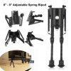 "Excelvan 6"" - 9\"" Adjustable Spring Bipod For Hunting - CZARNY"