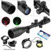 Excelvan Red and Green Illuminated Hunting Scope With Mount - NATURAL BLACK