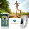 Excelvan OLED Smart Healthy Bracelet Bluetooth V4.0 Wristband with Pedometer / Sleep Monitoring / Tracking Calorie/Remote Capture Compatible with Android and IOS - GRAY