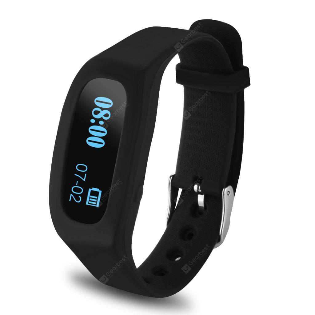 Excelvan OLED Smart Healthy Sport Bracelet Bluetooth V4.0 Wristband with Pedometer/Tracking Calorie/Remote Capture/Sleep Monitoring / Compatible with Android and IOS