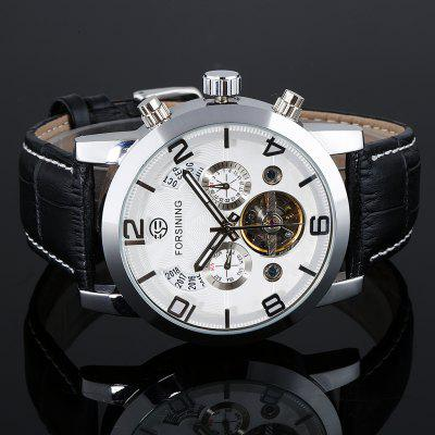 FORSINING Men's Automatic Mechanical Leather Wrist Watches