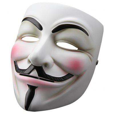 V for Vendetta Mask Anonymous Guy Fawkes Fancy Dress Resin Adult Costume Cosplay