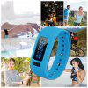 Excelvan moving up2 Smart Healthy Bracelet Bluetooth V4.0 Wristband with Pedometer / Sleep Monitoring / Tracking Calorie/Remote Capture Compatible for Android and IOS - BLUE