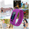 Excelvan moving up2 Smart Healthy Bracelet Bluetooth V4.0 Wristband with Pedometer / Sleep Monitoring / Tracking Calorie/Remote Capture Compatible for Android and IOS - PURPLE