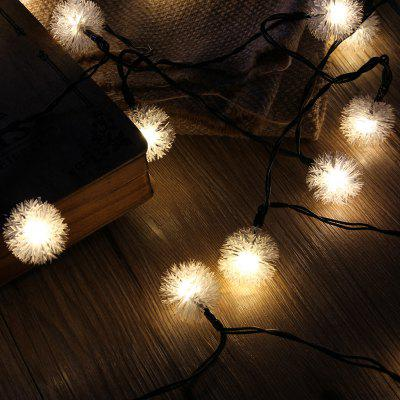 Solar Powered Light-Sensitive Christmas Decoration Lights 20 LED Solar Light String Chuzzle Ball Solar Fairy LED String Lights for Outdoor/Indoor, Gardens, Houses, Patio, Porch, Lawn, Wedding, Christm